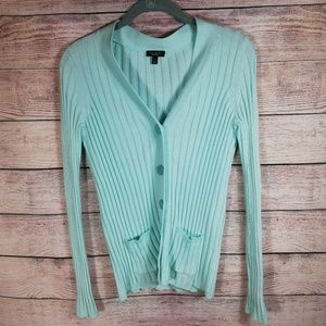 Talbots Cardigan Mint Green